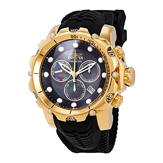 Amazon.com: Invicta Venom Chronograph Black Dial Mens Watch 26244: Watches