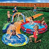 Banzai Cyclone Splash Pool and Cuved Water Slide Outdoor Water Fun