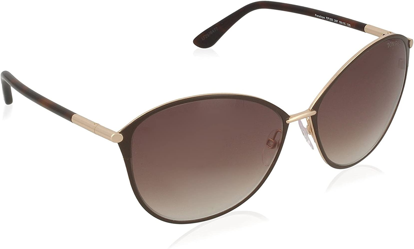 Amazon.com: Gafas de sol Tom Ford FT 0320 28F brillante oro ...