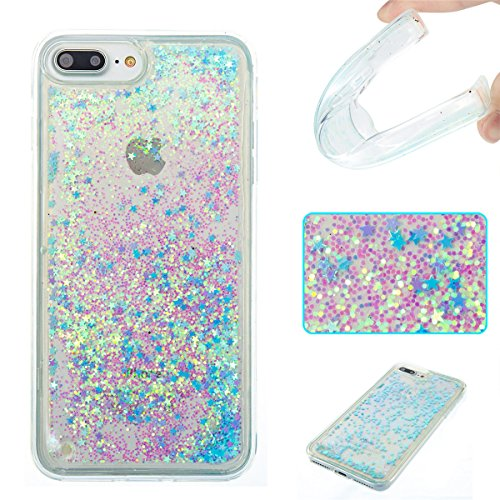 iPhone 8 Plus Case,Gift_Source Creative Bling Glitter Sparkle Liquid Quicksand Flowing Floating Case Rubber TPU Gel Cover Soft Bumper Cases For iPhone 8 Plus / iPhone 7 Plus (5.5