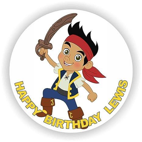 Marvelous Birthday Bazaar Jake Jake The Neverland Pirates Cake Topper Personalised Birthday Cards Fashionlily Jamesorg