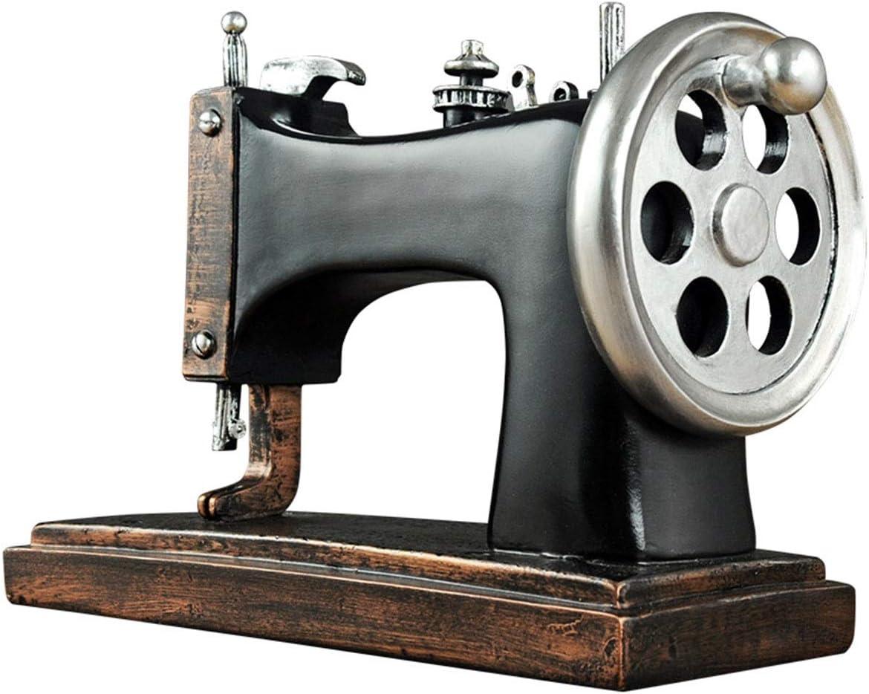 WEN Escritorio Resina Ornamento, Retro Máquina de Coser Estatua ...