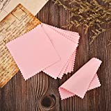 SEVENWELL 50pcs Jewelry Cleaning Cloth Pink