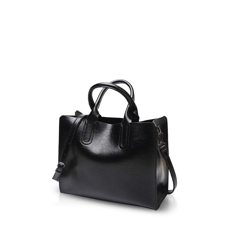 b435db17bf5 NICOLE DORIS Tote Handbag Crossbody Bag Shoulder Bag Ladies Messenger Bag  Purse PU Leather Black  Amazon.ca  Luggage   Bags