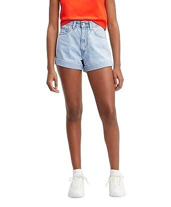 Fang suche nach echtem üppiges Design Levi´s ® Damen Shorts Kurze Hose HIGH Waist MOM A LINE Short ...