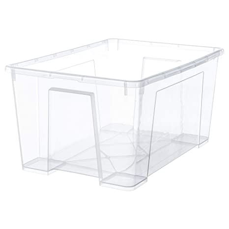 Amazon.com: IKEA.. 301.029.74 Samla Box, Clear: Home & Kitchen