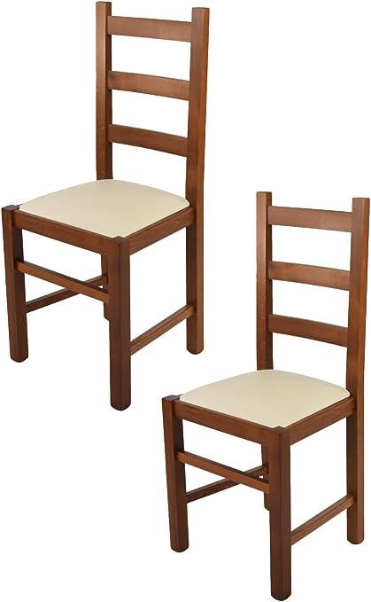 Tommychairs Set 2 Chaises Rustica Pour Cuisine Et Salle A Manger