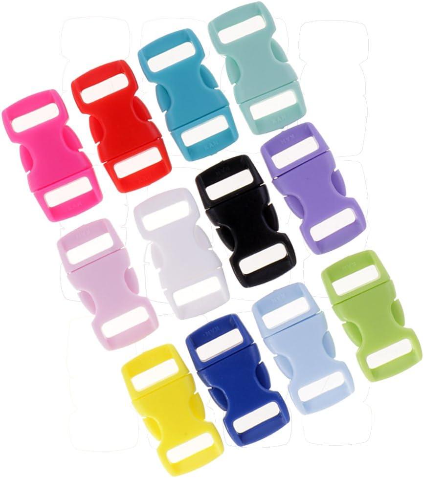 36 Pieces Colors Side Release Buckles with Resin Sewing Fastening Webbing Loop