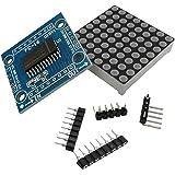 Dovewill Arduino/51/STM32/MCU ドライブ用 MAX7219 ドット マトリックス 8x8  LED 表示 モジュール