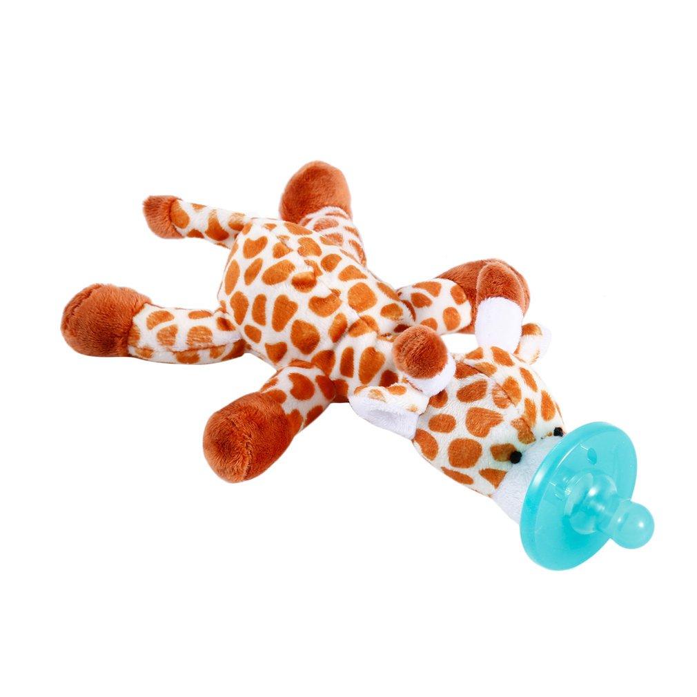 Chupete con La Felpa Jirafa Suave Regalo para Bebé Regalo Navidad Animal Jugute Chupete para Dar Bienvenida al Bebé