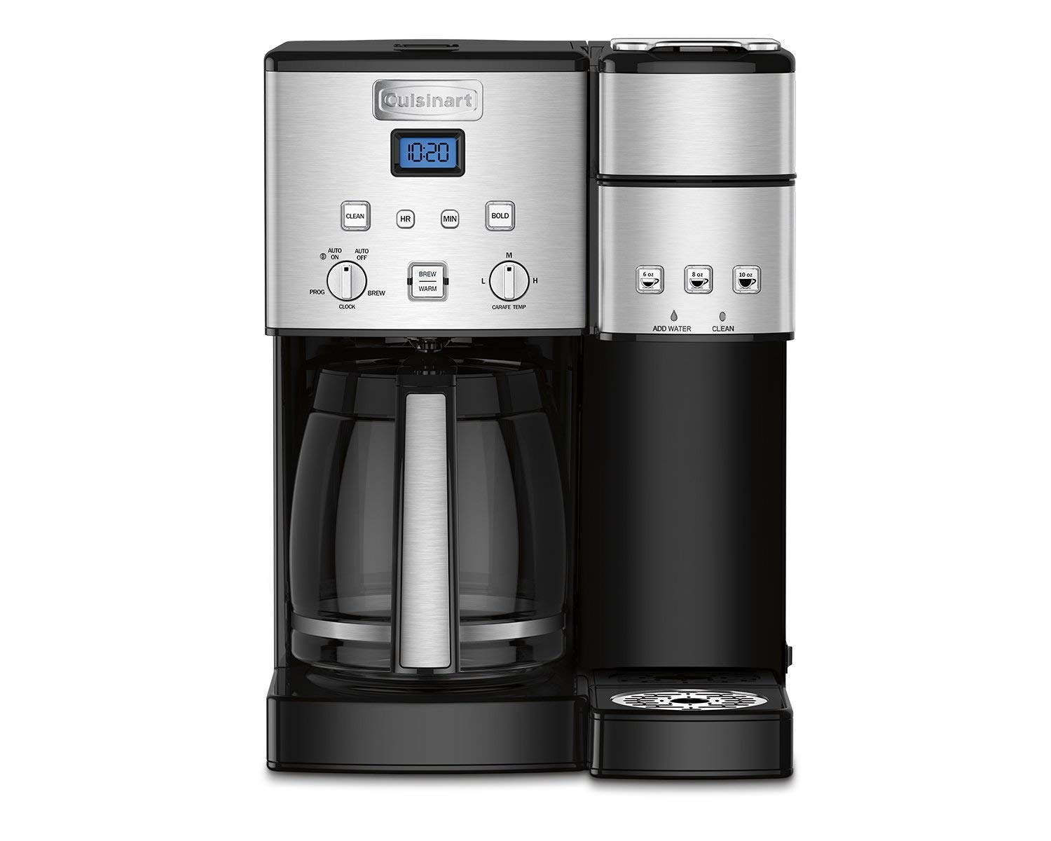 Cuisinart SS-15 Maker Coffee Center 12-Cup Coffeemaker and Single-Serve Brewer, Silver (Renewed)