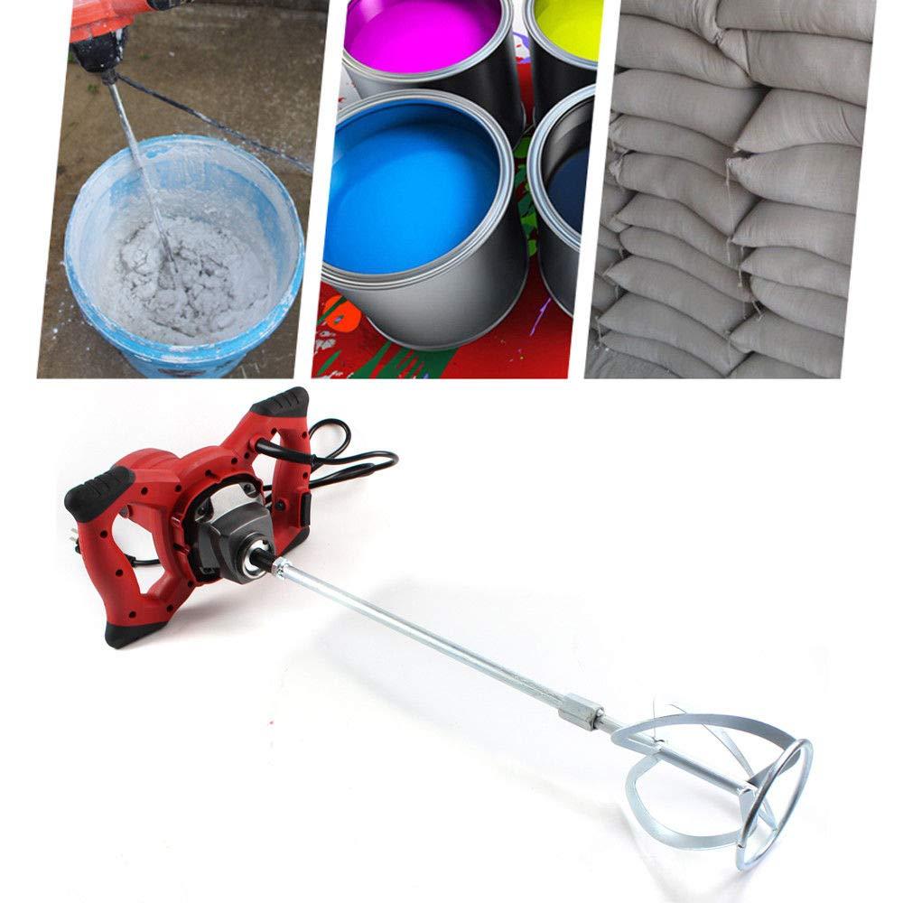 6 velocità Miscelatore agitatore professionale 1500 W professionale cemento Miscelatore per malte e vernici SHIOUCY