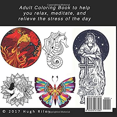 Adult Coloring Book: Relaxation, Mindfulness Meditation, and ...