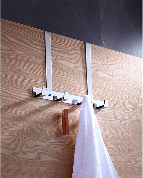 Perchero para puerta de acero inoxidable cromado para colgar toallas o batas en el ba/ño dormitorio o cocina 410-JJ Bookarrow