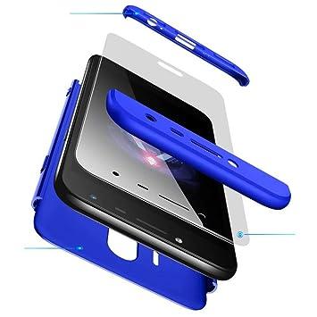 58b9a8da777 AILZH Funda movil Compatibles para Samsung Galaxy J5 2017 carcasa+[Cristal  templado]360 grados Caja protección de cáscara dura Anti-Shock Caso mate  bumper ...