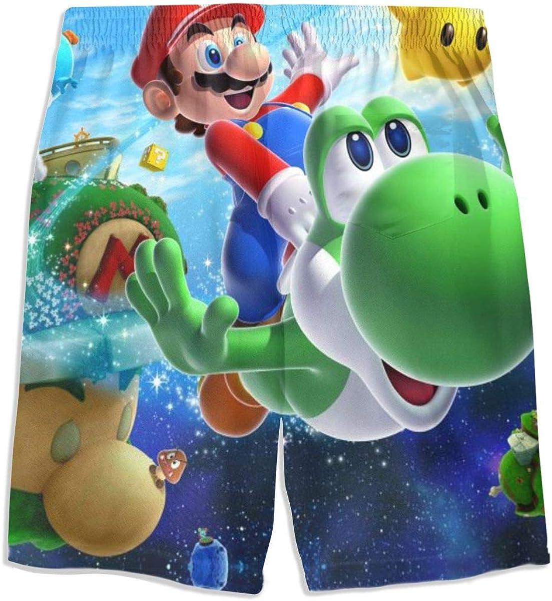 AndeyTT Super Mario Galaxy Boys Teens Cool Swimtrunks Quick Dry 3D Printed Casual Beach Boardshorts 7-20 Years