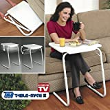 Table Mate Multi Function Detachable And Foldable Table without Cup Holder- White