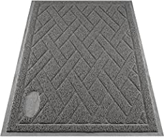 Pawkin Phthalate Free Cat Litter Mat - Patented Design with Litter Lock Mesh - Extra Large, Gray