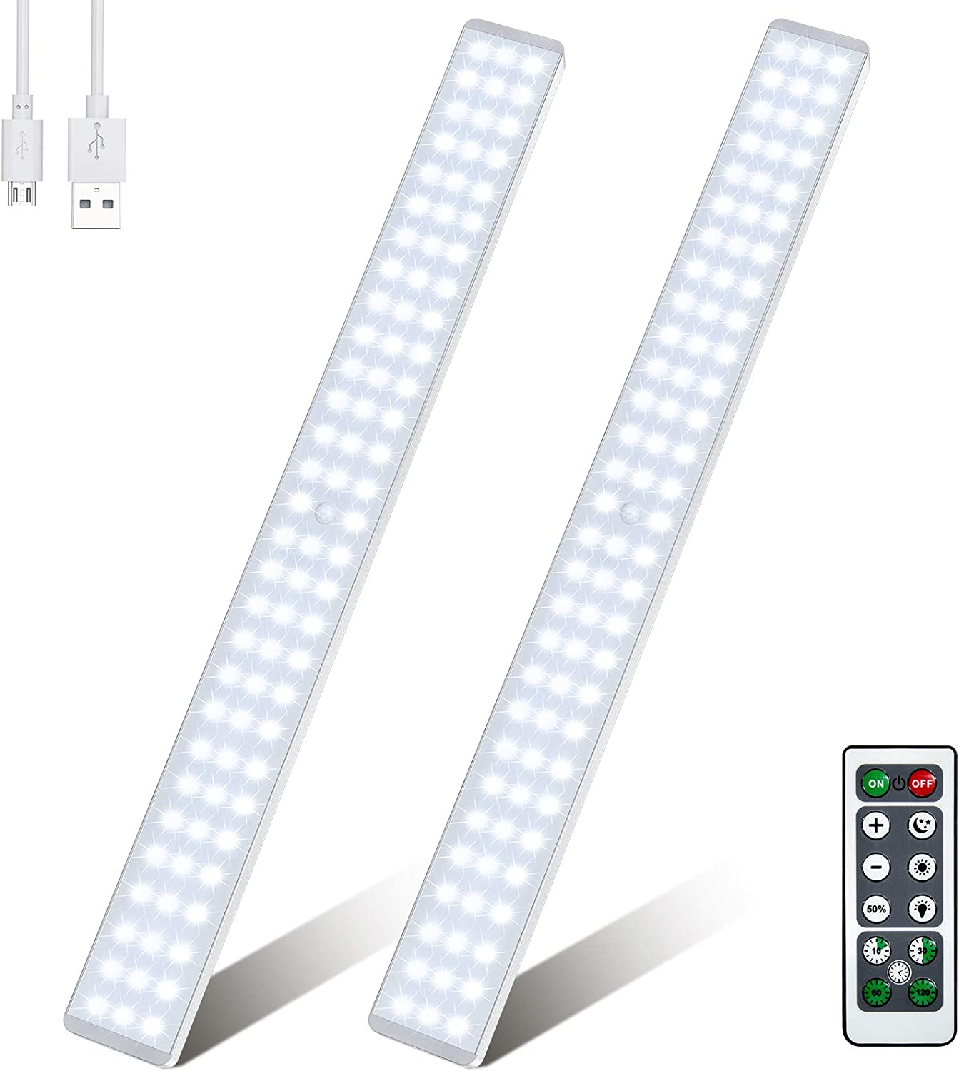 Best for Large Spaces Under Cabinet Wireless Light: [86 LED] With Remote Control