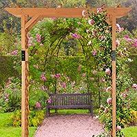 Relaxdays Pérgola de jardín, Arco para Rosas, Soporte para Plantas ...