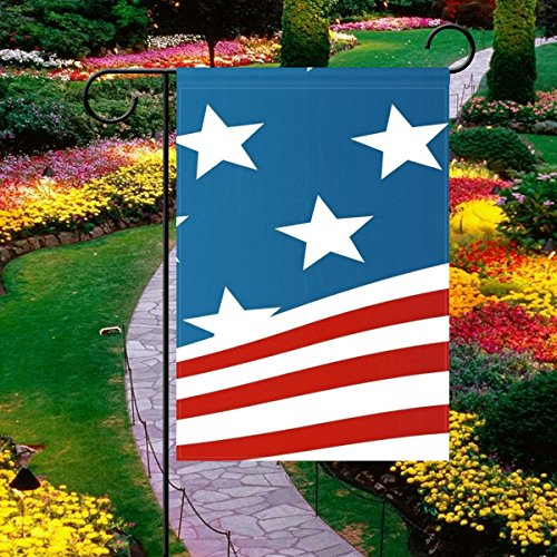 Vipsk Garden Flag Set with American Flag, Weatherproof 2 Sided 28x40 Inch