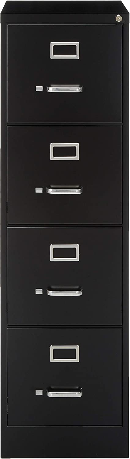 Lorell 4-Drawer Vertical File 15 by 22 by 52 Black