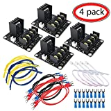 Heat Bed Power Module, MYSWEETY 4PCS Add-on Hot Bed Power Expansion Board MOS Tube High Current Load Module with Cables for 3D Printer