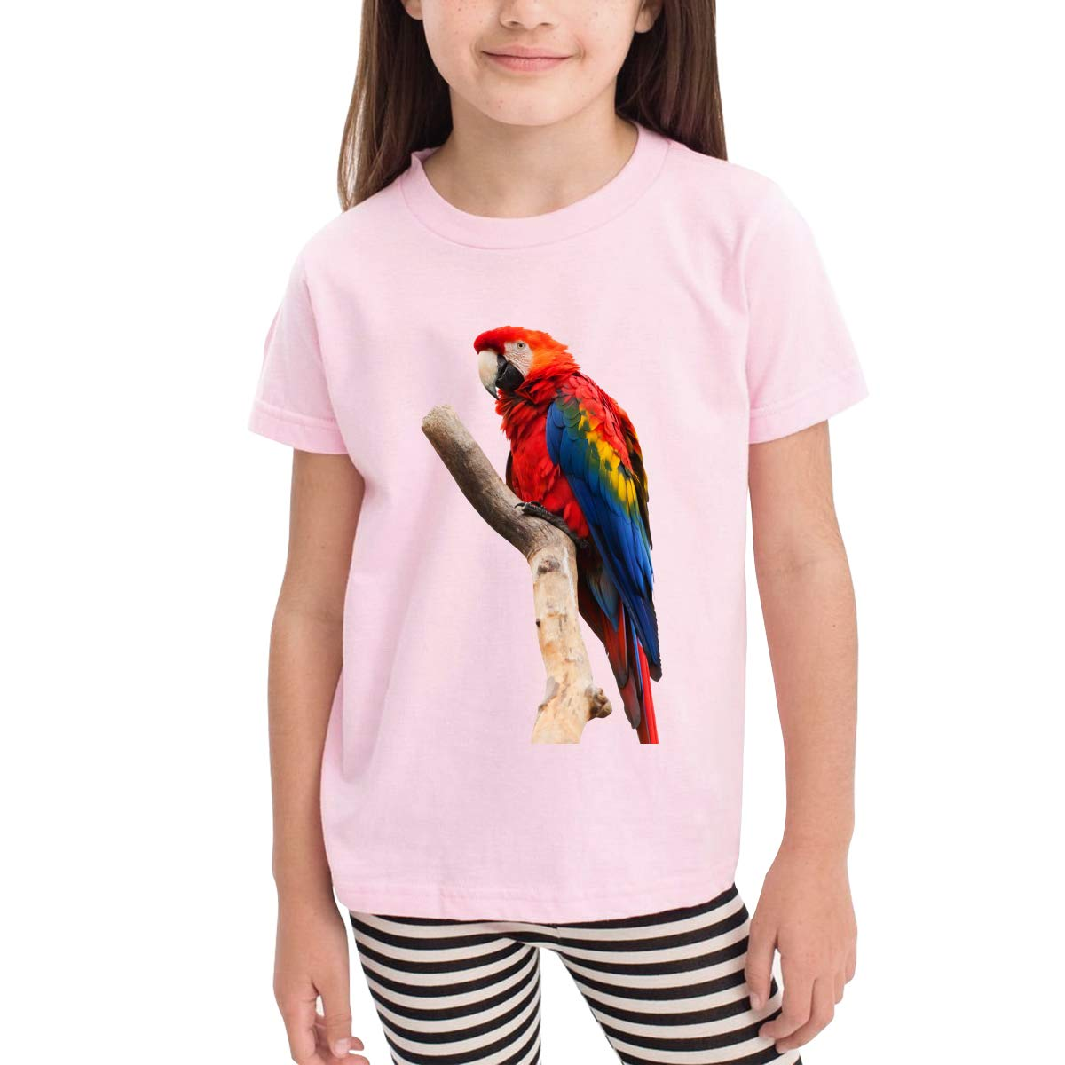 Red Parrot 100/% Cotton Toddler Baby Boys Girls Kids Short Sleeve T Shirt Top Tee Clothes 2-6 T