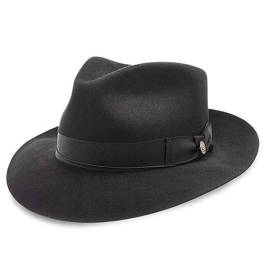 3f8e42d4a Stetson Bogie Fur Felt Fedora Hat