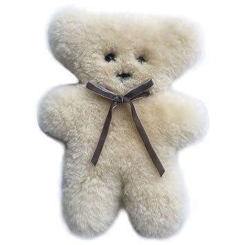 amazon com 100 australian soft sheepskin flat teddy bear in cream