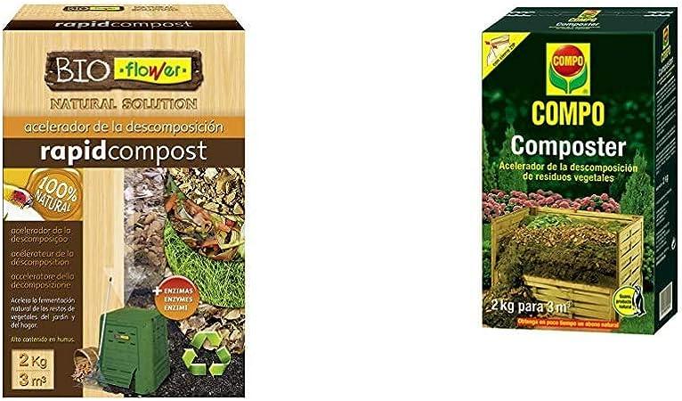 Flower Flowe - Acelerador de la descomposición, Compost Orgánico, 2 kg 80106 80106-Humus de lombriz, 3 l, 16x11.5x29.5 cm: Amazon.es: Jardín