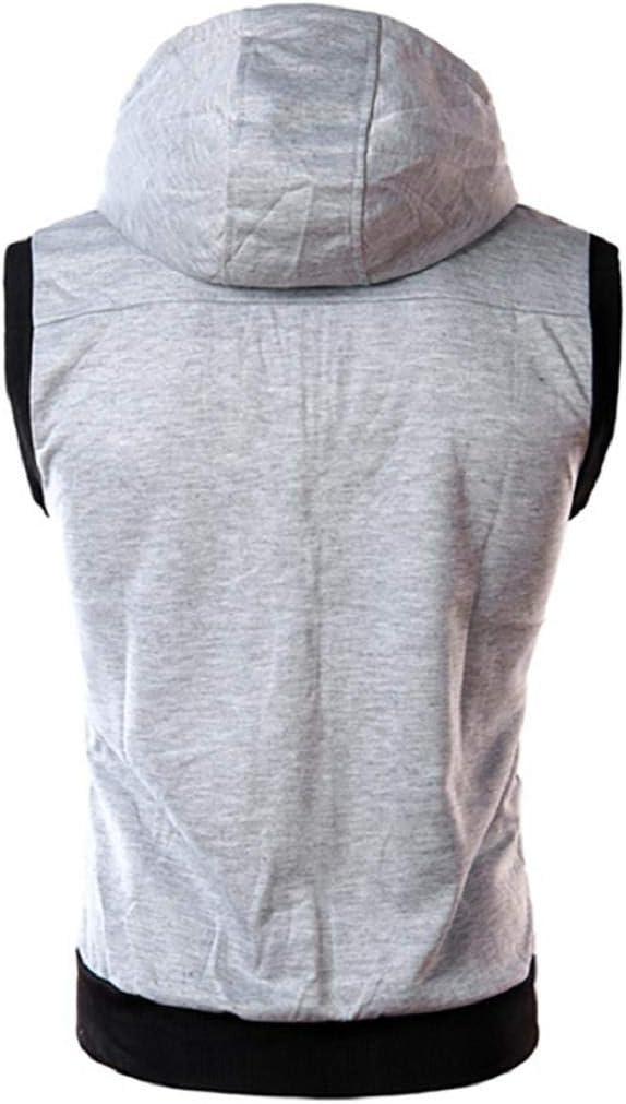 GreatFun Chemise Mode Hommes d/ét/é Casual /à Capuche Couleur Pure T-Shirt Manches Courtes Top Blouse Couleur Unie pliss/ée Casual sans Manches Creative Summer Sports Slim Fit Mince