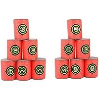 Soft Foam Target Cans for Nerf Guns Games, Christmas Birthday Gift for Children, Pack of 12