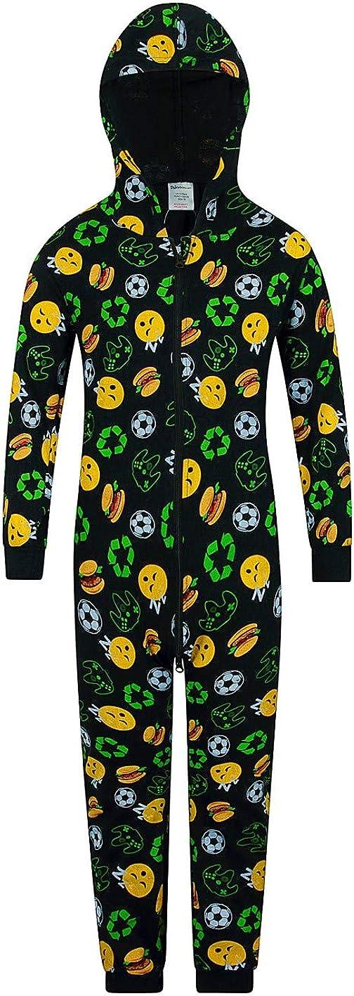 Tuta The PyjamaFactory motivo emoji di videogiochi sonno cibo calcio