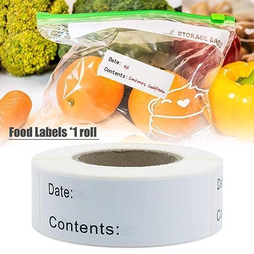 Etiquetas autoadhesivas alimentos extraíbles congeladores ...