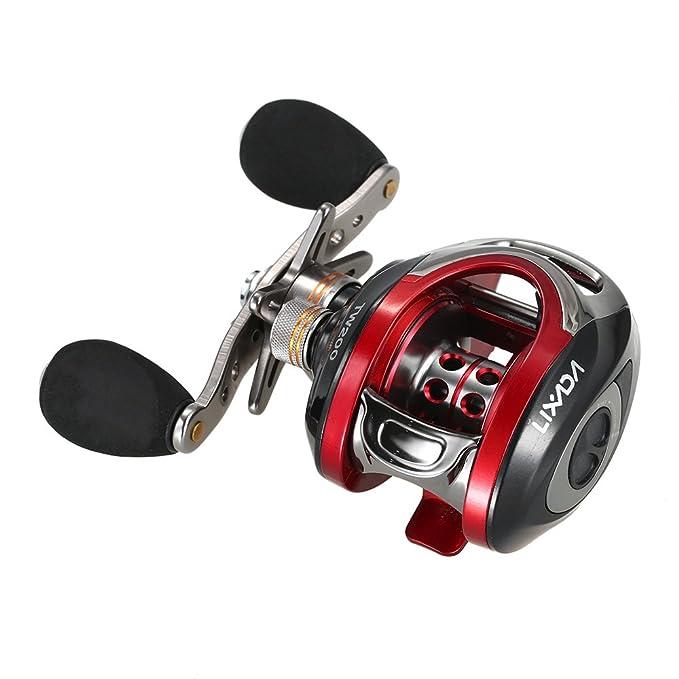 Lixada LMA200 10 + 1BB rodamientos mano izquierda Bait Casting pesca carrete de alta velocidad 6.3:1 negro: Amazon.es: Deportes y aire libre