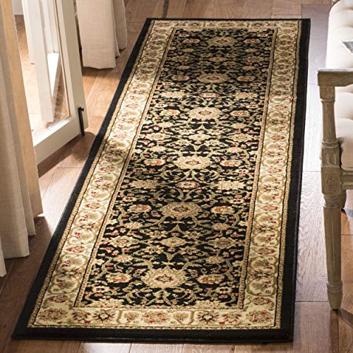 Safavieh Lyndhurst Collection LNH212A Traditional Oriental Black and Ivory Runner (2'3