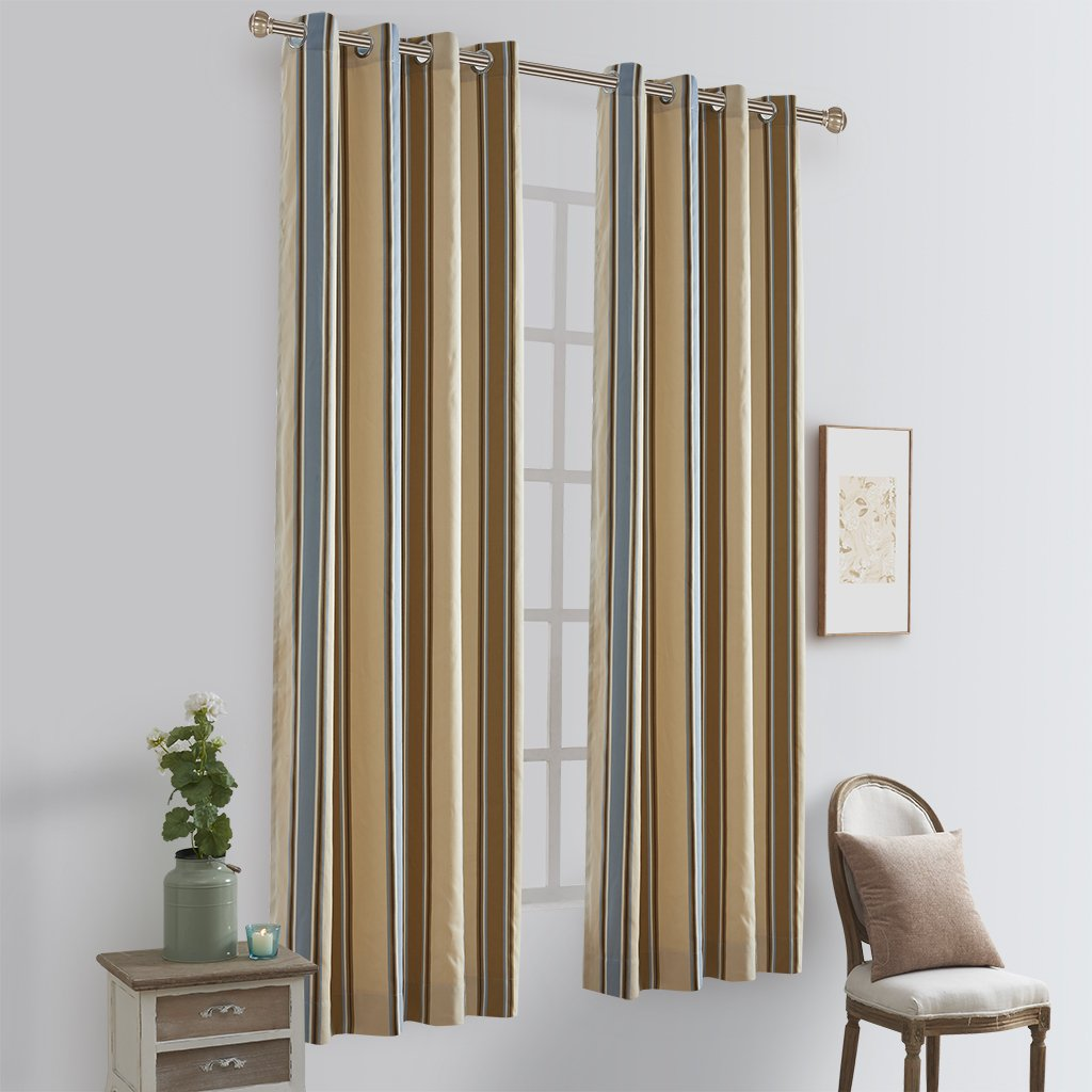 Blue And Brown Window Treatments
