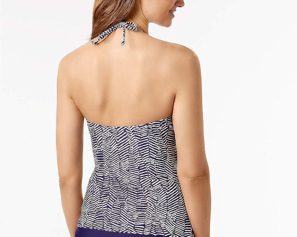 1c50cb90a692b Island Escape Mykonos Beach High Neck Tankini Top Navy, 14 at Amazon Women's  Clothing store:
