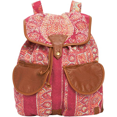 Billabong Junior's Midnight Moonz Printed Canvas Backpack, Black Cherry, One Size