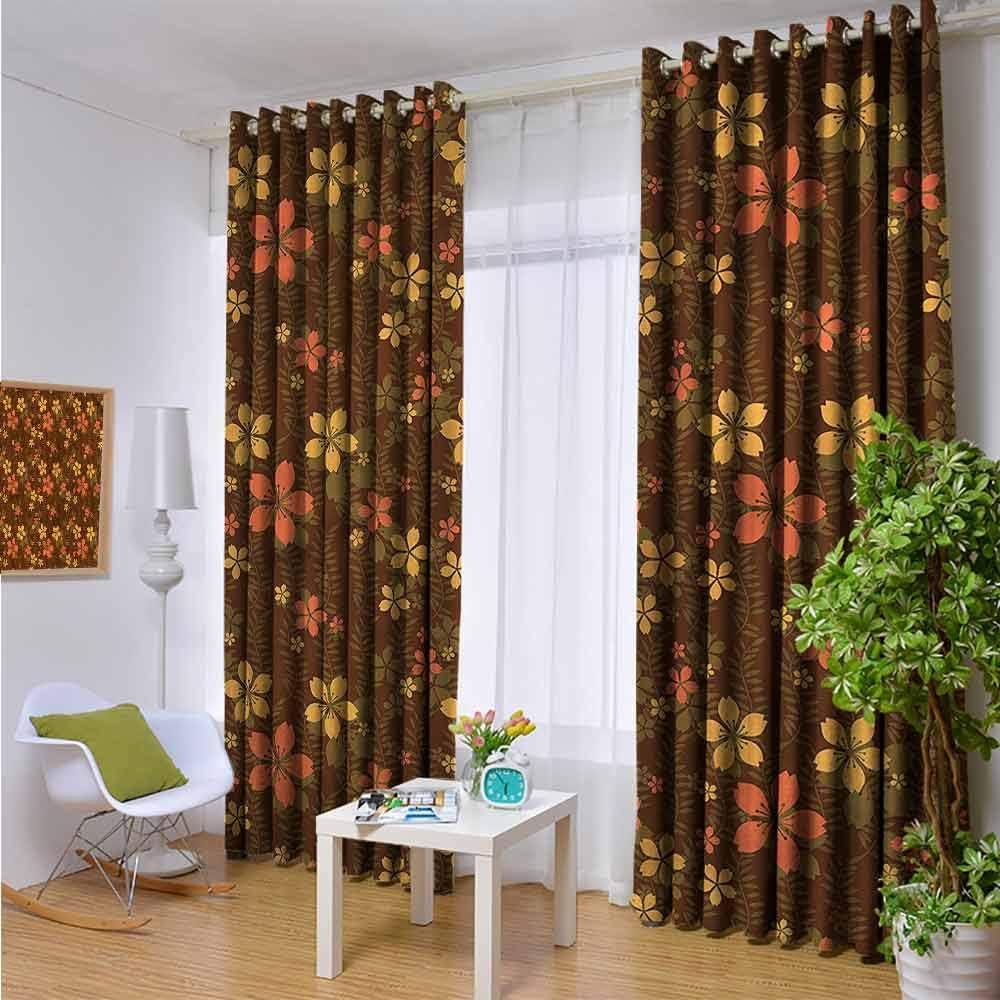 KAKKSW - Cortinas para Puerta corredera, 2 Paneles, Color marrón: Amazon.es: Hogar