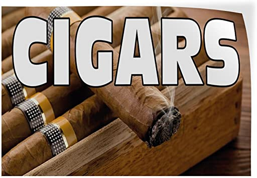 Decal Sticker Cigar Business Business Cigar Outdoor Store Sign Black-42inx28in