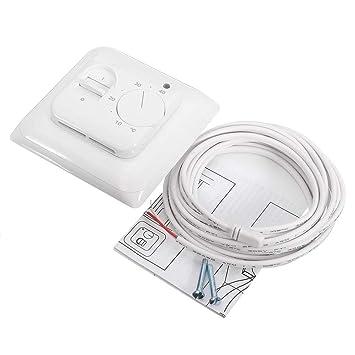 16A Interruptor de calefacción eléctrico con suelo radiante de termostato manual mecánico con sensor de piso