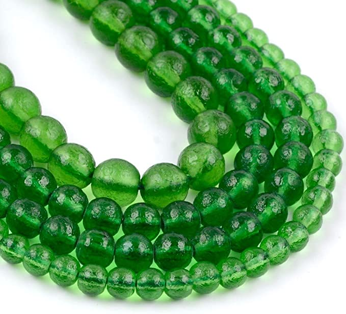Amazon.com: 6 8 10mm Natural Stone Beads Green Moldavite Stone Round Loose Beads for Jewelry Making DIY Bracelet Necklace Accessories, (6mm Approx 61pcs): Home & Kitchen