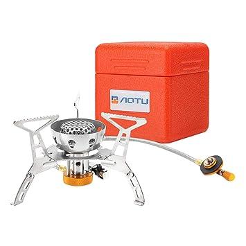 Pinji Hornillo Camping Gas Plegable Portátil de Acero Inoxidable, Mini Cocina para Acampada y Senderismo: Amazon.es: Deportes y aire libre