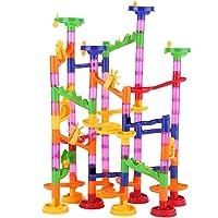 Fdit 105PCS Juguetes de Pelotas de Tubo Juquetes Creativos Educativos para Niños Juquetes de Construcción