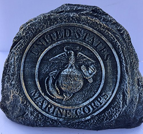 Marine Service Stone Memorial Handmade in USA made of cast stone concrete great for indoor or outdoor 3 color option available(Bronze Patina)