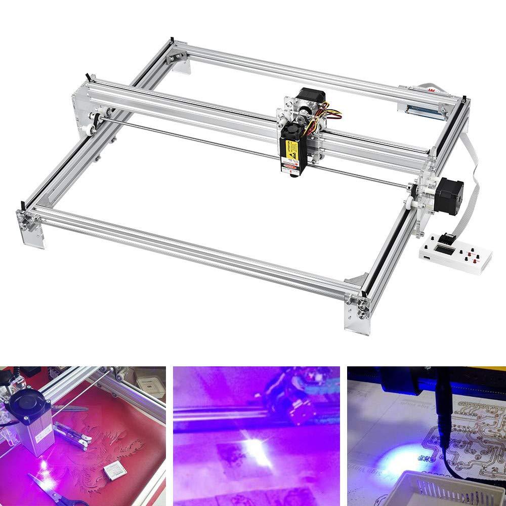 logo machine de gravure bricolage imprimante de bureau en plastique /à 2 axes en bois ETE ETMATEMachine de gravure laser 7000MW image de marque 65x50cm