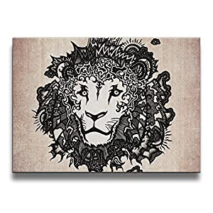 Mout-store Art Leo 16/20 Inch (A Frameless) Decorative Artwork Abstract Oil Paintings On Canvas Wall Art Ready To Hang For Home Decoration Wall Decor, Paintings For Living Room