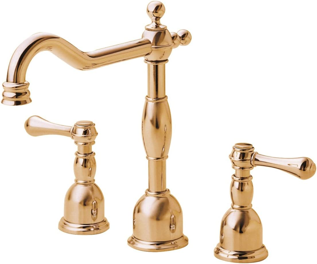 Danze D304157PBV Opulence Two Handle Widespread Lavatory Faucet, Polished Brass PBV